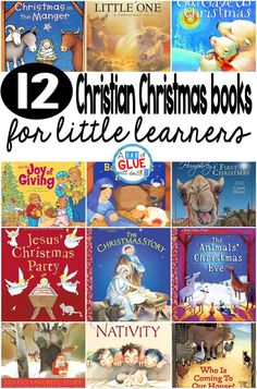 Our 12 favorite Christian Christmas books are perfect for your Christmasl lesson plans or at home with your children. These are great for preschool, kindergarten, or first grade students. Christmas Activities For Toddlers, Childrens Christmas Books, Preschool Christmas, Toddler Christmas, Toddler Activities, Christmas Crafts, Christmas Ideas, Christmas Nativity, Christmas Program
