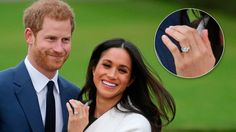 Prince Harry proposed to Meghan Markle with an engagement ring that used diamonds from Princess Diana& personal collection. Meghan Markle Ring, Meghan Markle Engagement Ring, Royal Engagement, Engagement Rings, Princess Meghan, Prince Harry And Meghan, Princess Diana, Us Actress, Duchess Of York