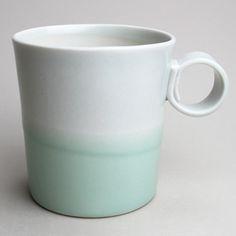 Image of 16oz mug in grey/aqua