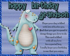 Dinosaur birthday wishes for your special grandson! Free online Grandson, Have Lots Of Fun ecards on Birthday Happy Birthday Grandson, Birthday Hug, Birthday Songs, Dinosaur Birthday, Special Birthday, It's Your Birthday, Beautiful Birthday Cards, Happy Birthday Wishes Cards, Birthday Fireworks