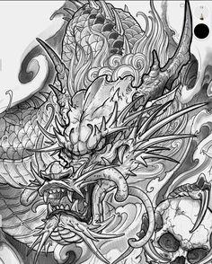Asian Dragon Tattoo, Dragon Tattoo Arm, Dragon Sleeve Tattoos, Arm Sleeve Tattoos, Dragon Tattoo Designs, Hand Tattoos, Japanese Tattoo Symbols, Japanese Tattoo Designs, Japanese Sleeve Tattoos