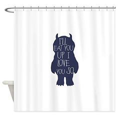 CafePress  Ill Eat You Up I Love You So  Decorative Fabric Shower Curtain * Learn more by visiting the image link.