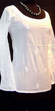 The Yogini Wore White: White Cotton Kundalini Yoga Clothing