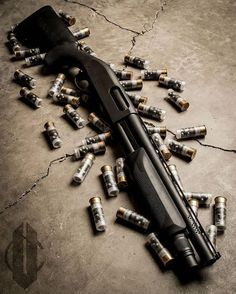 """Remington 870 with a 14"""" barrel and pro work done by Vang Comp."""