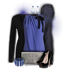"""Electric Blue"" by sophie-01 on Polyvore"