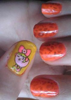 Mameshiba kyary&Print leopard orange