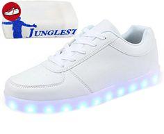 [Present:kleines Handtuch]Schwarz-4 EU 37, Sport Schuhe Turnschuhe Damen Unisex Farbwechsel USB JUNGLEST® Herren Blitzen weise Licht Schuhe Farbe