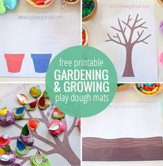 These adorable gardening and growing playdough mats are a perfect addition to any spring or garden unit this spring!
