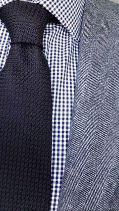 Herringbone, checks and knits