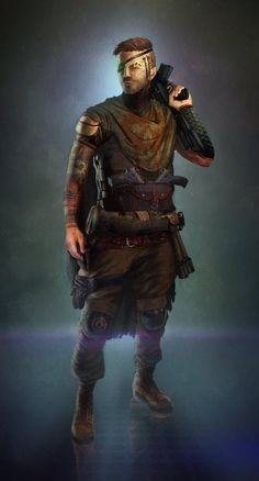 Pirate Soldier by EmmanuelMadailArt on DeviantArt Character Concept, Character Art, Character Design, Character Ideas, Warrior Concept Art, Star Wars Characters, Fictional Characters, Fantasy Armor, Shadowrun