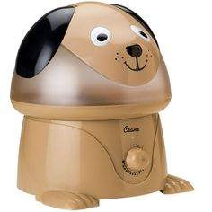 Relieve your little ones of cold, cough, and flu symptoms and assure them a good night's sleep with this adorable Crane Cool Mist Dog Humidifier(EE-3190). Its 1-gallon water tank is easy to store and allows for hydration throughout the night for up to 11 hours providing a total output of 2.1 gallons of moisture per day
