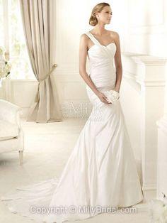 Taffeta Sweetheart Mermaid Ruched Wedding Dress 2013