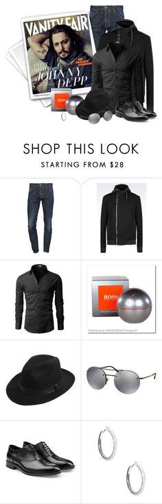 """JOHNNY DEPP"" by arjanadesign ❤ liked on Polyvore featuring Dsquared2, Vanity Fair, Emporio Armani, HUGO, Prada, Jil Sander, men's fashion, menswear and masculine"