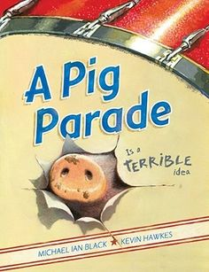 Obviously, a pig parade is a terrible idea.... Well, because pigs are totally not into majorette uniforms, literary floats or band marching music (much preferring sad country ballads with names like'my Tears are Wet 'Cause my Mud's Gone Dry'-don't you know?  The illustrations are exquisite and full of gorgeous colour, and the book is chock full of a wonderful form of tongue in cheek sweet wit. Do yourself a favour and read this book to your children, so you can take your own secret delight…