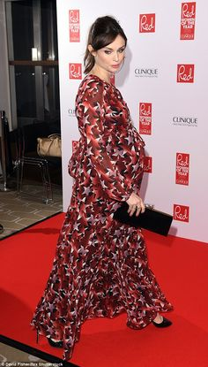 Tousled updo: Sophie wore her brunette locks pulled back in a ponytail with extra volume at the crown