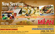 Signature Indian Recipes by Award Winning Chef in California - ADV   #finedining, #indian, #Milpitas, #SFBayArea, #SiliconValleyEats, Chef Sanjay Patel, #MilanIndianCuisine  Website http://siliconeer.com/current/adv-milan-indian-cuisine/