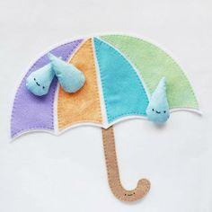 Saiba já passo a passo como fazer um guarda chuva de feltro com molde