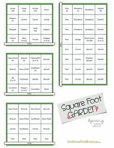 Square Foot Garden Plans for Spring - onecreativemommy.com onecreativemommy.com