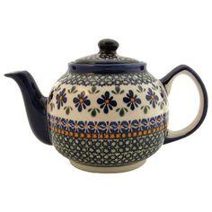 Polish pottery stoneware teapot