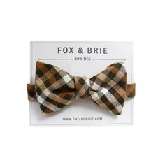 Woodland Gingham bow tie.
