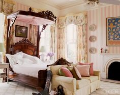 pink stripes on this girl room
