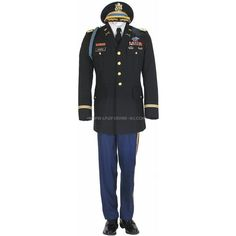 US ARMY OFFICER MALE BLUE ARMY SERVICE UNIFORM ASU ($19) ❤ liked on Polyvore featuring military
