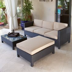Belmont 4 piece brown wicker patio chaise lounge set for Better homes and gardens englewood heights chaise lounge