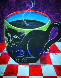 Cat Coffee Mug / Coffee Art / Coffee Shop Stuff Art Pop, Coffee Shop, Coffee Cups, Hot Coffee, Coffee Heart, Cafe Art, Coffee Pictures, Funky Art, Cat Mug