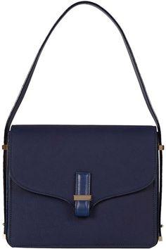 VICTORIA BECKHAM Navy Shoulder Bag