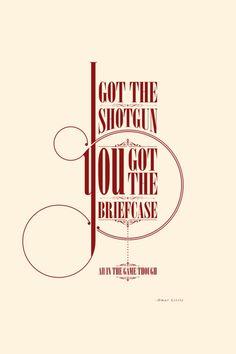 TV quote typography by Justin Van Genderen.