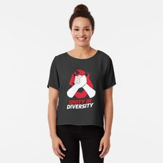 Unity In Diversity, Chiffon Tops, Fitness Models, Classic T Shirts, How To Get, Printed, Awesome, Sleeves, Mens Tops