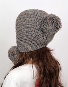 Slouchy Woman Handmade Knitted Hat Clothing Cap on Luulla Knitted Headband, Crochet Beanie, Knit Crochet, Crochet Hats, Baby Hats Knitting, Loom Knitting, Knitted Hats, Loom Hats, Earflap Beanie