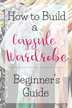 Part one of three: Beginner's guide to building a successful and effective capsule wardrobe. I'll answer all of your FAQ's and show you how to get started!