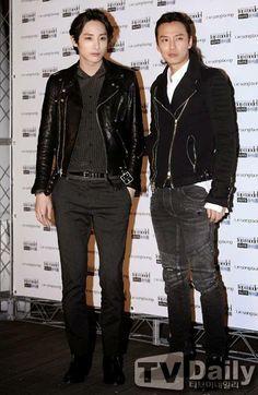 Lee Soo Hyuk & Kim Nam Gil @ LIE SANG BONG Reception at ANTM Show April 2014