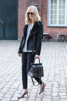 THE SHEARLING JACKET FOR THE COLD DAYS by BLAME IT ON FASHION  #Fashion, #MyOutfits