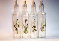 bottles decorated with flowers