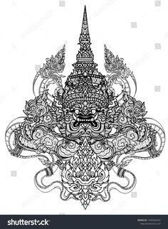 Tattoo art giant hand drawing and sketch black and white , Hip Tattoos Women, Baby Tattoos, Trendy Tattoos, New Tattoos, Thigh Tattoos, Khmer Tattoo, Thai Tattoo, Thailand Tattoo, Thailand Art
