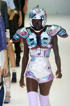 alexander mcqueen s/s 2005 rtw, 'it's only a game' as worn by awaoi