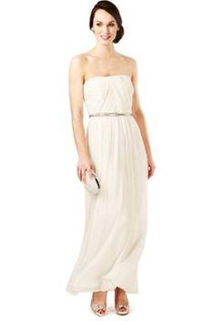 Sleeveless Flared Hem Belted Maxi Dress