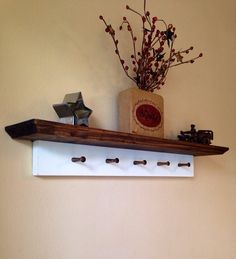 Rustic Shelf with Key Holder Rustic by CountryMadeMemories, $34.00