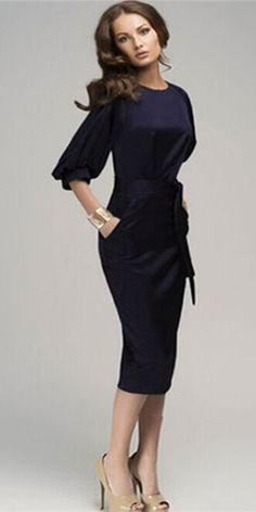 Women Elegant Formal Party Pencil Dress