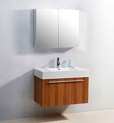 """36"""" Virtu Midori JS-50136-PL Single Sink Bathroom Vanity - Plum #Virtu #HomeRemodel #BathroomRemodel #BlondyBathHome #BathroomVanity"""