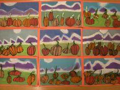 WHAT'S HAPPENING IN THE ART ROOM??: 1st Grade Pumpkin Landscapes