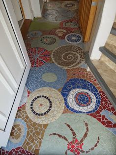 Mosaic floors like this one were first done by the ancient Geeks.  Early forms…