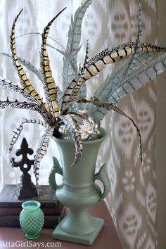 feathers+in+vase+unique+flower+arrangement.jpg (750×1125)