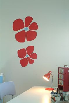 Encourage your children to study by beautifying their work area. #Tikkurila Paint Stencils are a cheap and effective way to customise your home