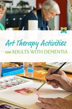 Studies show that art therapy activities help boost cognitive function in areas Alzheimer/Dementia activities and info Group Therapy Activities, Elderly Activities, Senior Activities, Activities For Adults, Spring Activities, Health Activities, Counseling Activities, Brain Activities, Physical Activities