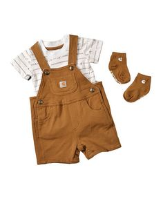Carhartt Infant 3-Piece Overall Set - 3M-9M