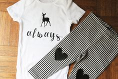Harry Potter Onesie Set Snape Always by SmoochieBabyBoutique