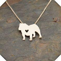 An English Bulldog Has My Heart Necklace
